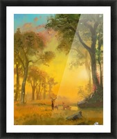 Light In The Forest Picture Frame print
