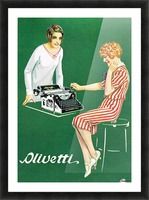 Olivetti poster Picture Frame print