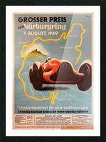 Original Vintage Sports Car Racing Poster for the 1949 Nurburgring Grand Prix Picture Frame print
