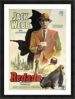 Film Noir Poster - Dragnet Picture Frame print