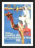 Hamburg-Sud Billige Mittelmeerreisen Original Poster Picture Frame print