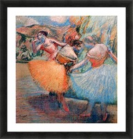 Three dancers 1 by Degas Picture Frame print