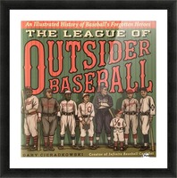 League of Outsider Baseball Picture Frame print