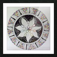 Cosmic Mandala Picture Frame print