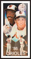 1986 Baltimore Orioles Ripken Murray Poster Impression et Cadre photo