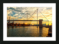 Amazing Sunset over river Picture Frame print