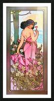 Carnation Art Nouveau Portrait by Alphonse Mucha Vintage Old Masters Art Nouveau Reproduction Picture Frame print
