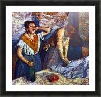 Two cleaning women by Degas Picture Frame print