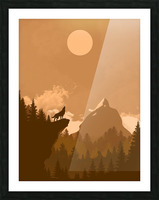 Mountain Wolf Day Picture Frame print