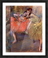 Two dancers behind the scenes by Degas Picture Frame print