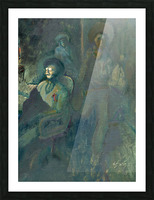 Ghost at AZ Bank Robbery Picture Frame print