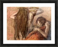 Two girls by Degas Picture Frame print