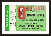 1977 Miami Hurricanes vs. Ohio State Football Ticket Canvas Picture Frame print