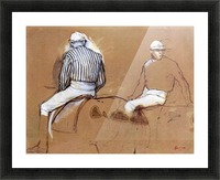 Two jockeys by Degas Picture Frame print