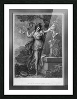 Mrs. Abington as Thalia by Engraver Francesco Bartolozzi Classical Art Old Masters Reproduction Picture Frame print