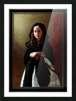 Portrait of Princess Charlotte of Belgium by Franz Xaver Winterhalter Classical Fine Art Old Masters Reproduction Picture Frame print