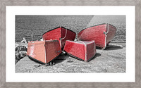 Red Dorries Picture Frame print