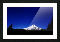 Mount Hood in the Waning Light of Day - Oregon Columbia River Gorge Picture Frame print