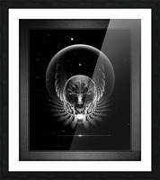 Gothic Wing Feitan Skull Fractal Art Composition Picture Frame print