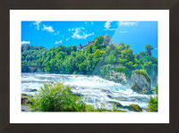 Perfect Day at Rhine Falls Switzerland Picture Frame print