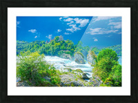 Beautiful Day at Rheinfall Switzerland 1 of 2 Picture Frame print