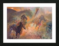 Wild Horses Sun Dust Picture Frame print