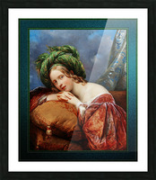 Dame Mit Grunem Turban by Aimee Pages-Brune Classical Fine Art Xzendor7 Old Masters Reproductions Picture Frame print