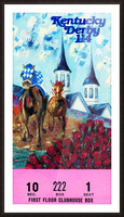 1988 Kentucky Derby Ticket Stub Canvas  Picture Frame print