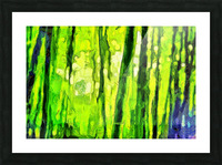 Bamboo forest oil painting inVincent Willem van Goghstyle. 3.  Picture Frame print