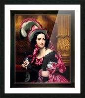 The Venetian At The Mask Ball by Joseph-Desire Court Classical Fine Art Xzendor7 Old Masters Reproductions Picture Frame print