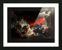 The Last Day of Pompeii by Karl Bryullov Classical Fine Art Xzendor7 Old Masters Reproductions Picture Frame print