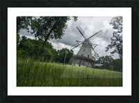 Windmill in a Storm Picture Frame print