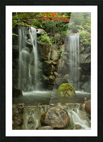 Japanese Waterfalls Picture Frame print