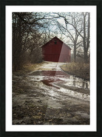 Travel to the Red Barn Picture Frame print