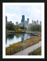 Hancock Over Lincoln Park Picture Frame print