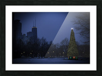Chicago Christmas Picture Frame print