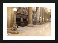 Bank Columns Picture Frame print