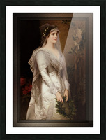 Laura by Conrad Kiesel Classical Art Xzendor7 Old Masters Reproduction Picture Frame print