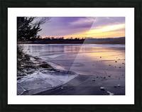 A Violet Sunset Picture Frame print
