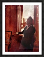 Woman at the window by Degas Picture Frame print