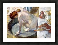Woman washing in the tub by Degas Picture Frame print