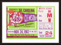 1962 Clemson vs. South Carolina Picture Frame print