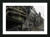 Old Train in the Yard Picture Frame print