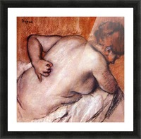Womans back by Degas Picture Frame print