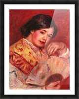 Young girl with fan by Renoir Picture Frame print