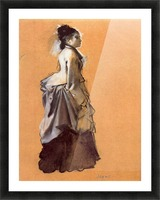 Young lady in the road costume by Degas Picture Frame print