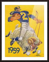1959 LA Rams Karl Hubenthal Art Picture Frame print