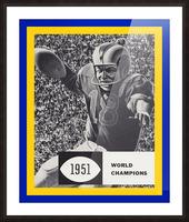 LA Rams 1951 World Champions Art Picture Frame print