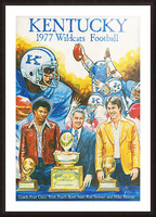 1977 Kentucky Football Poster Picture Frame print