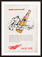 1947 Miller Beer Ad  Picture Frame print